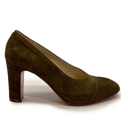 Chanel Classic Suede Cap-Toe Shoes