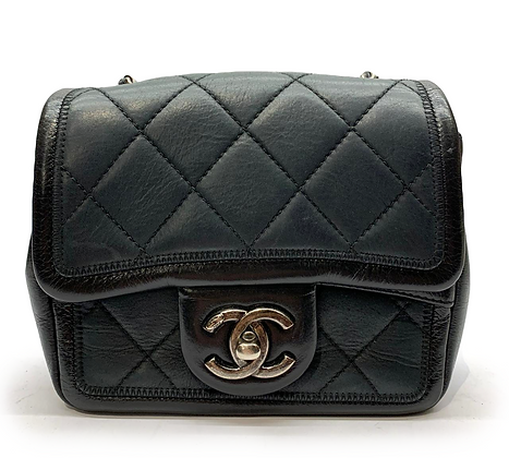 Chanel Quilted Graphic Mini Square Flap Bag
