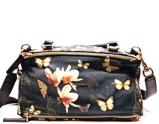 Givenchy Pandora Flower & Butterfly Pattern Rounded Handle and Shoulder Strap