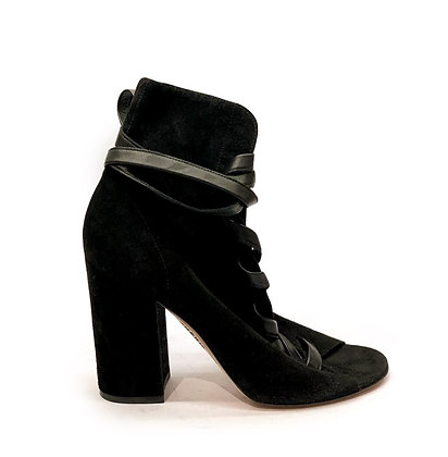 Giambitto Rossi Black suede Booties