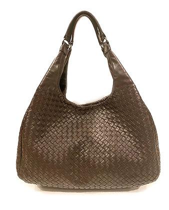Bottega Veneta Intracciato Leather Hobo Bag