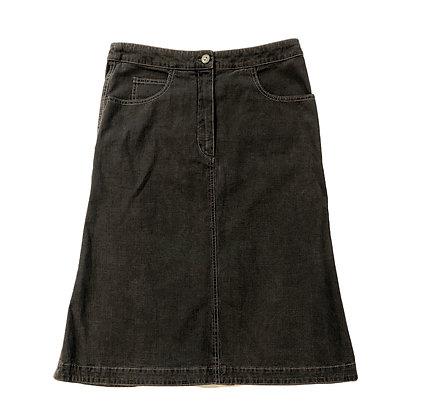 Chanel Grey Denim Skirt 2003 Spring Collection