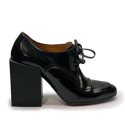 Balenciaga Leather Block Heel Bootie