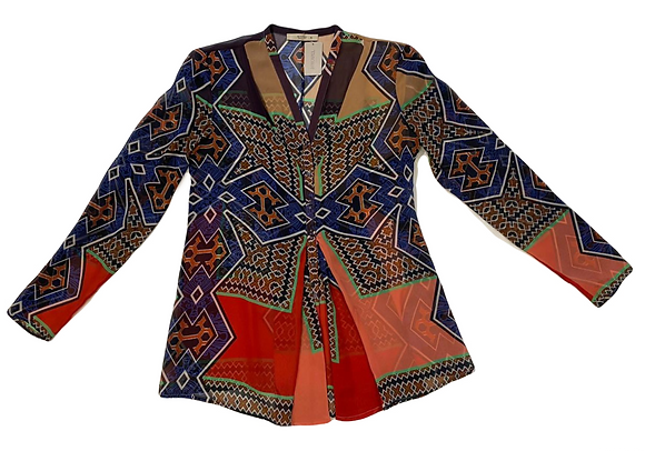 Etro Silk Blouse and Skirt