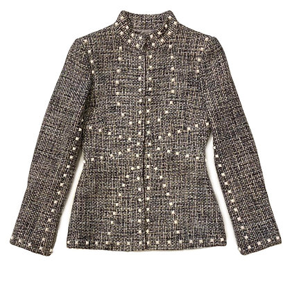 Chanel Tweed Studded Blazer 2003 Autumn Collection