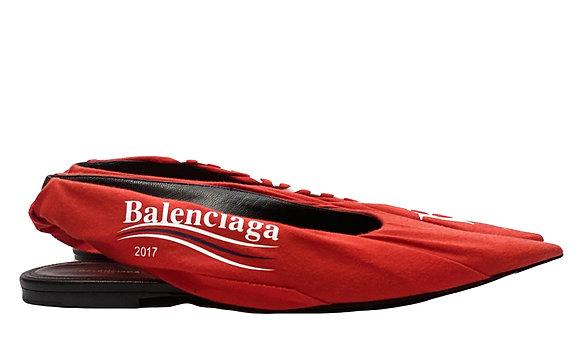 Balenciaga Red Flats