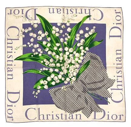 Christian Dior Vintage Scarf 80 cm