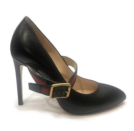 Gucci Black Ribbon Pointed-Toe Heels