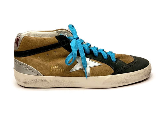Golden Goose Camel Suede/White Star Mens Sneakers