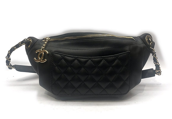 Chanel Bi Classic Waist Quilted Lambskin Bag