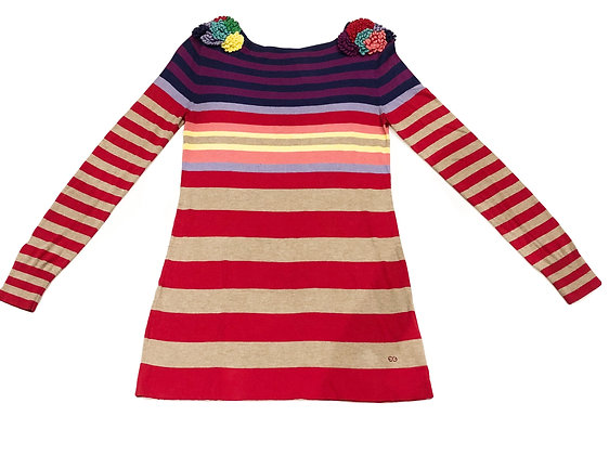 Escada Sport Multicolored Stripped Sweater