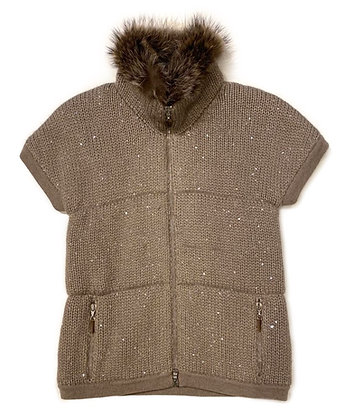 Brunello Cuccinnelli 100% Cashmere and Fur Vest