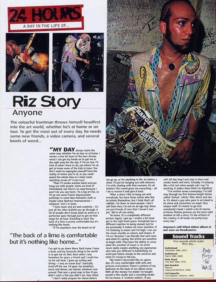 Riz Story - Kerrang Magazine