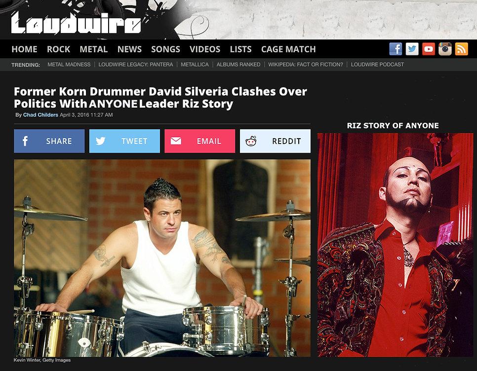 Riz Story, David Silveria, Anyone Loudwire Article