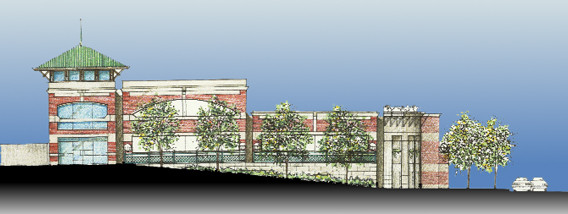 Summit Parking Garage Elevation Rendering
