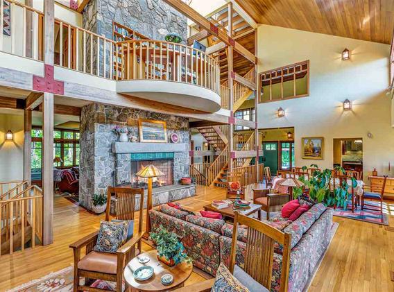 Sunapee Residence, Living Room