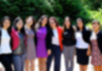 Smart Latina students successful women
