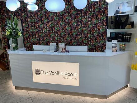 salon reception desk installation