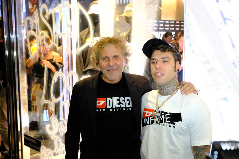 Renzo Rosso & Fedez at Diesel Milano 2018