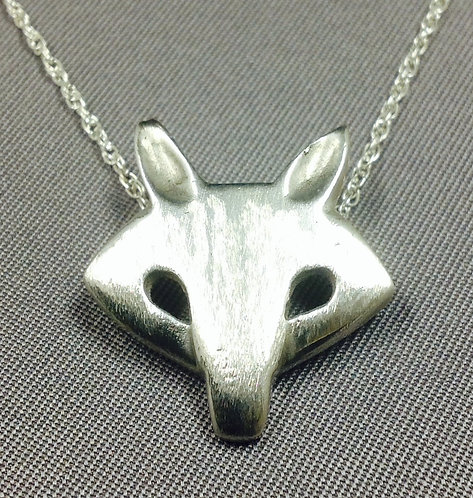 Sterling Fox Charm and Chain