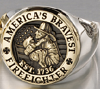 Fire Department Rings that celebrate America's Bravest