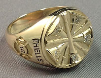 Fire Department Rings with Signet Style