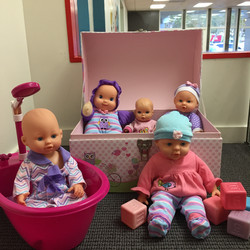Dolls in the playhouse