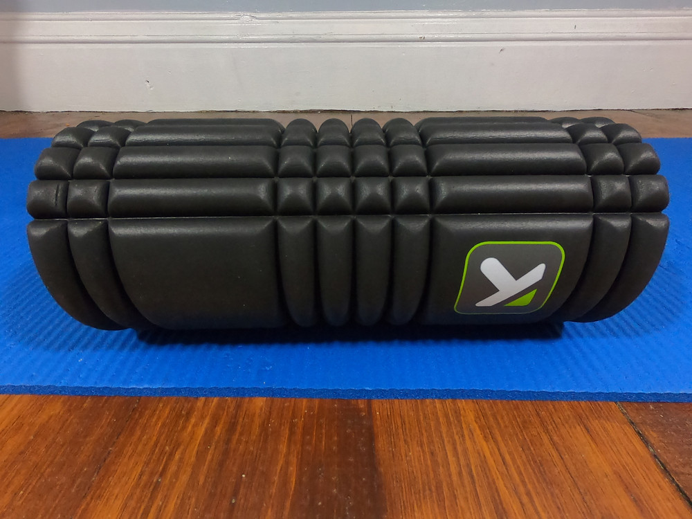 The TriggerPoint GRID foam roller that I use for running recovery