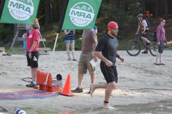 Jake swimming in race