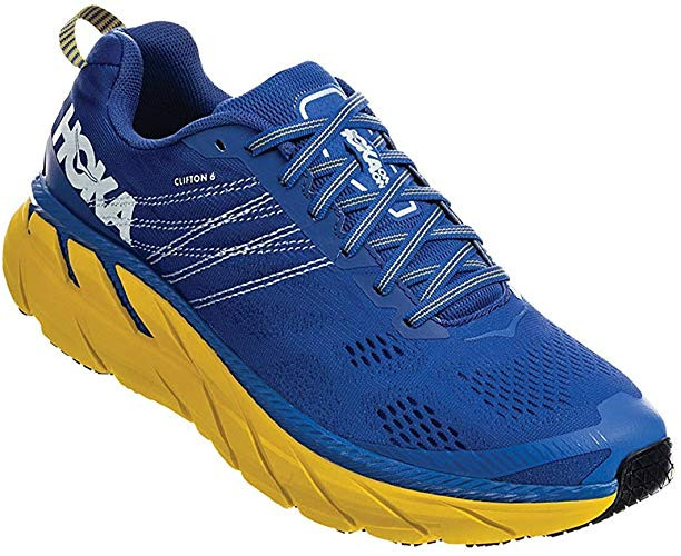 Hoka One One Clifton 6 running shoe (Nebulas Blue/Lemon)