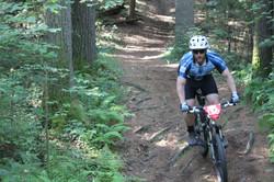 Jake biking in race