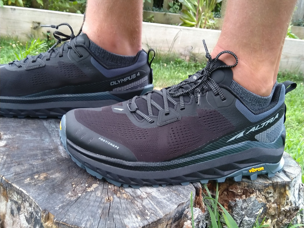 The Altra Olympus 4 trail running shoe has a great engineered upper and amazing traction