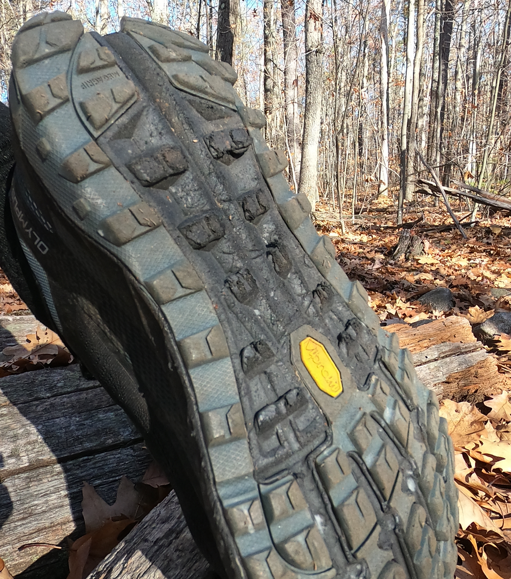 This section of exposed foam wears a bit faster than the rest of the outsole on the Altra Olympus 4 trail running shoe