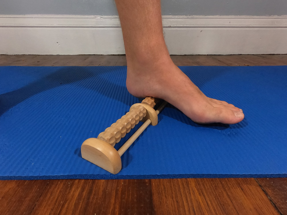 A foot roller that I use for my running recovery. Works wonders for plantar fasciitis foot pain.
