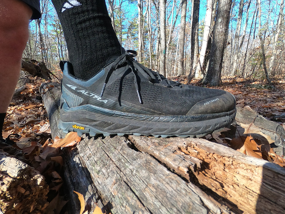 The Altra Olympus 4 a top of the line maximalist trail running shoe