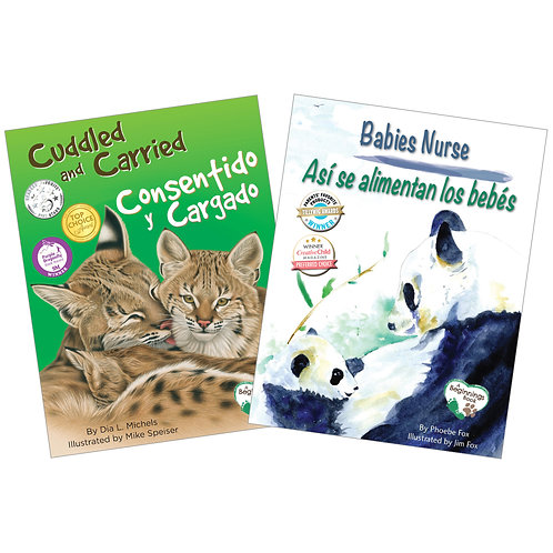 Nurtured and Nuzzled Bilingual Book Set