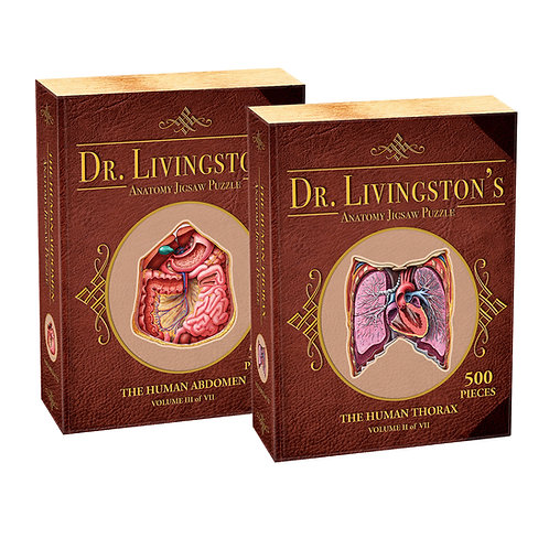 Dr. Livingston's Anatomy Jigsaw Puzzle: Thorax and Abdomen 2-Puzzle Set