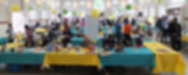 Eastern Market's North Hall set up for Literary Hill Book Fest