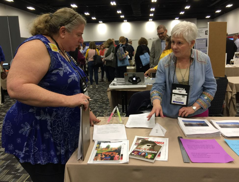 Cathy Barthelemy Dia Michels STEM ITEEA conference reading literacy books reading education