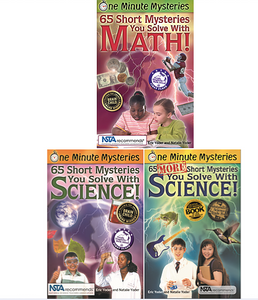 one minute mysteries science naturally stem math science