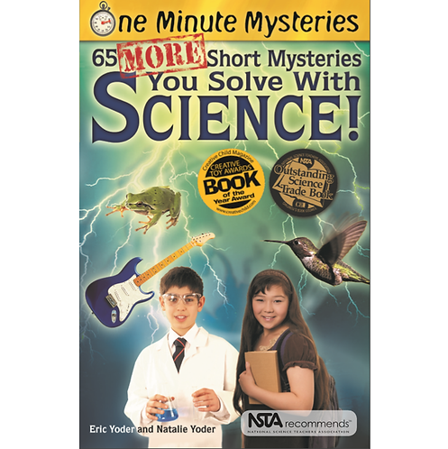 Cover of NSTA recommends awarded fun science problem solving book for middle grade students