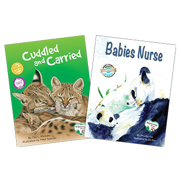 Reading children child nurturing animals babies nurse cuddled and carried platypus media