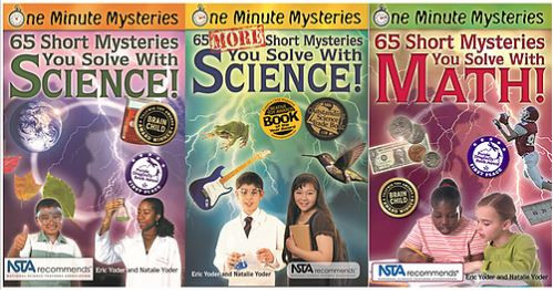 one minute mysteries science naturally STEM books library ideas early education science math reading
