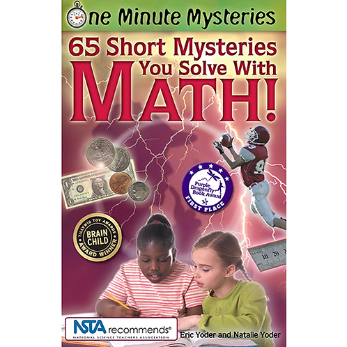 Cover of fun math mystery book for elementary and middle grade math