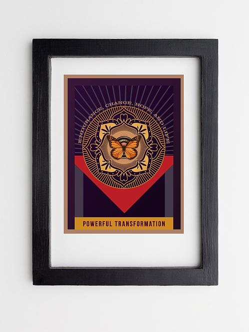 Powerful Transformation Framed Print