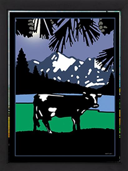 Montana Cattle 18 x 24 Framed