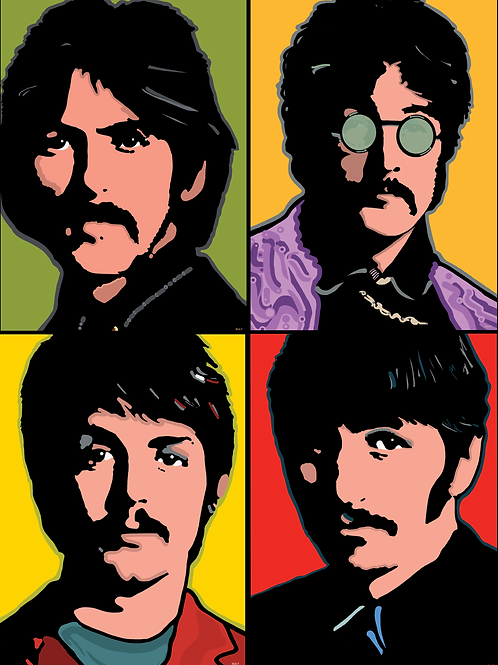 The Beatles, 1968 printed on canvas