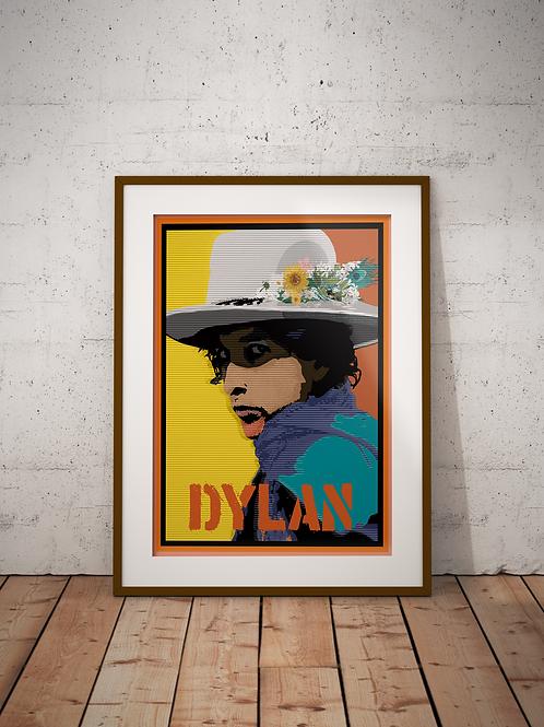 Bob Dylan Framed Poster