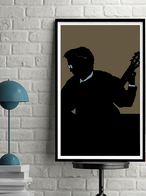 Classical Guitarist, Original Digital Serigraph