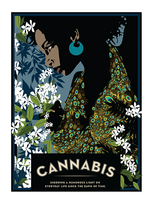 Cannabis - Large format poster 18 in x 24 in (45.7 cm x 61 cm)